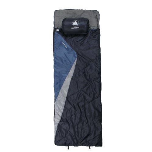 10T Schlafsack ROCKFORT -8° warm weich 1500g leicht XL Deckenschlafsack 220x80 Blau / Grau