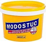 MODOSTUC Stucco Professionale Per Legno E Muro, A Rapida Essiccazione e Perfetta Adesione, Bianco, 1000 grammi