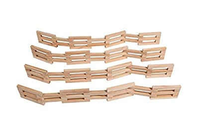 THE FRECKLED FROG Wooden Fences - Set of 4 - Ages 12m+- More Than 6 ft (2 inches high) of Toy Corral Fences for Imaginative Play with Toy Horses, Farms, Action Figures and Role Play Activities