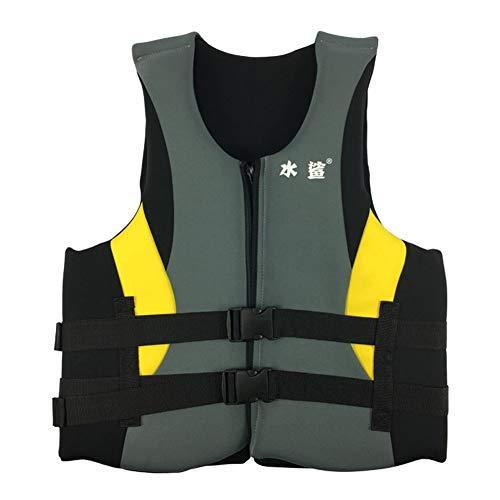 SXZSB Chaleco Salvavidas Al Aire Libre para Adultos,Unisex Kayak Esquí Flotabilidad Pesca Deportes Acuáticos Seguridad Chaleco Salvavidas Chaleco,Negro,XXL