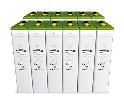 Baterías Estacionarias Solares TOPzS 24V 442-575Ah | 12 Vasos Más de 15 años Vida Útil Fotovoltaica