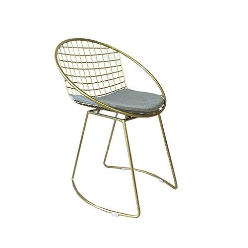 Taburetes de bar de hierro forjado, sillas giratorias, sillas de bar de oro, pequeñas mesas y sillas de moda (Color : A)