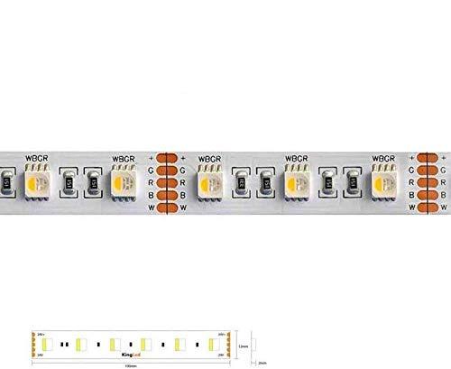Kingled - Striscia Led 5 metri RGBW Ricevitore Mi Light MiBoxer FUT044 WL5 Alimentatore 100W DC24V (Striscia Led 96W RGB+Fredda)