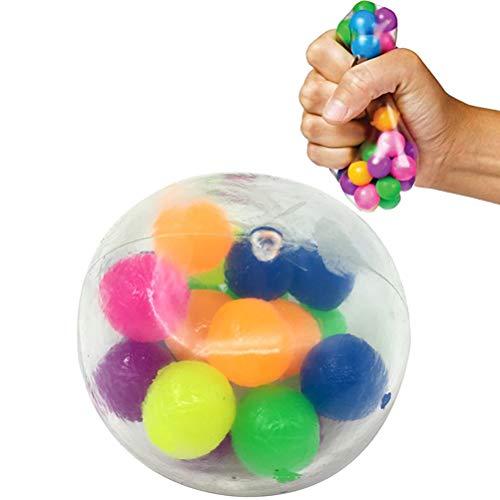Pywee Stressbälle Spielzeug, 3 Stück/Set Stressabbaubälle Spielzeug Stressball für Kinder und Erwachsene Quetschbälle für Stressabbau und besseren Fokus Spielzeug DNA Sensory Balls Spielzeug