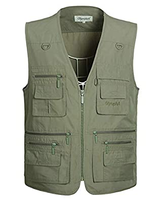Gihuo Men's Summer Outdoor Work Safari Fishing Travel Vest