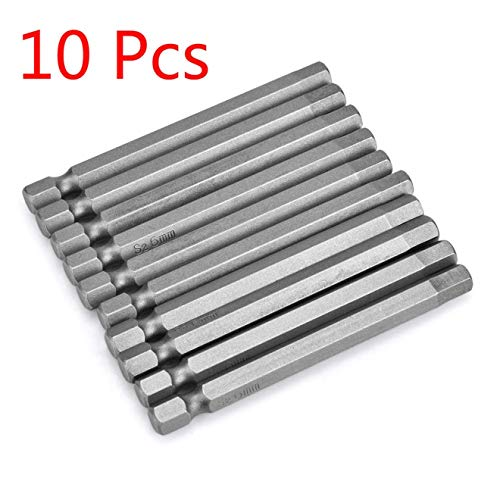 DULALA 10 Stück Magnetbohrer Sechskant-Schraubendreher für Bohrmaschine 6mm Stahl 75mm Länge