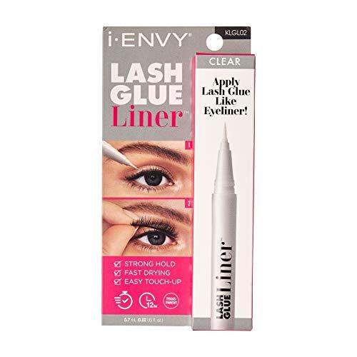 i-ENVY Lash Glue Liner 0.7mL (0.02 US fl. Oz) – Apply Lash Glue like Eyeliner (Clear)