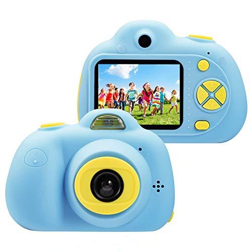 Cámara para niños ToyZoom Cámara de Fotos Digital 2 Objetivos Selfie 8MP Cámara Digital 1080P HD Videocámaras para Niños Niñas con Zoom Digital 4X, Flash Lights, 2' LCD, Batería Recargable (Azul)