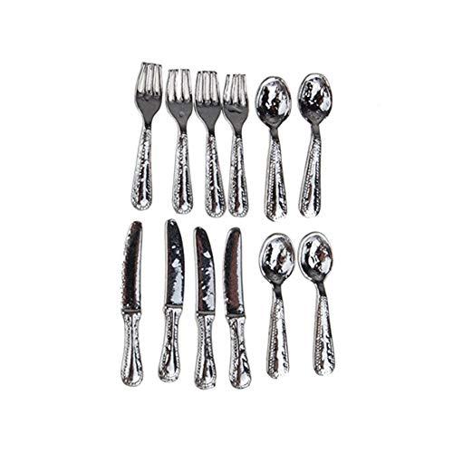 Newin Star 12pcs Cuchillo y Tenedor vajilla del Mini casa de Objetos...