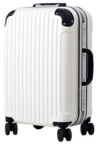 [luckypanda(ラッキーパンダ)] TY051 スーツケース 大型 キャリーバッグ lサイズ フレーム 1年修理保証対応 TSAロック 鍵付 ハード trunk baggage luggage bag suitcase キャリーバック キャリーケース Lサイズ ホワイト