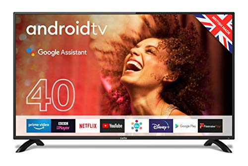 """Cello C4020G 40"""" Smart Android TV with Freeview Play, Google Assistant, Google Chromecast, 3 x HDMI and 2 x USB 