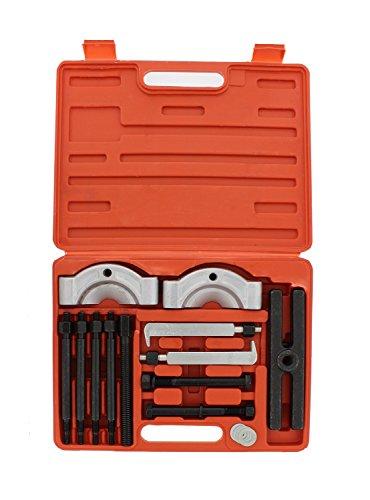 ABN Gear Puller and Bearing Separator Splitter 14-Piece Set – Vehicle Gear, Pulley, Steering Wheel, Ball Bearing