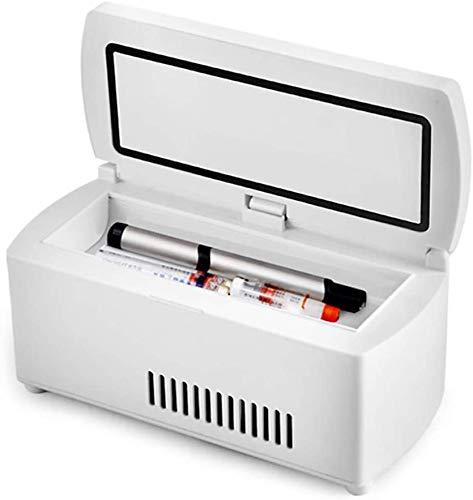 ZXL Tragbarer Medikamentenkühlschrank und Insulinkühler, Mini-Arzneimittelkühlschrank mit konstanter Temperatur, 2–8 ° C, tragbarer Autokühlschrank Kleine Reisebox