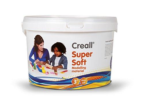 Softknete - HAVO 25020 - Creall supersoft Knete 1.750g, in 5 Farben sortiert - weiche Knete, Kinderknete