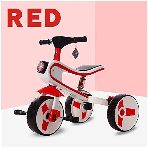 HYLH Dreirad FüR Kleinkinder, Kinder-Dreirad-Fahrrad 2-In- 1 Zusammen Mit Trike Kids Forst Dreirad Entwickelt Dreirad, Baby-Dreirad, Mit Sicherem Und Sicherem Design, Red