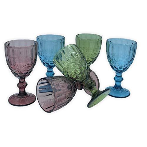 Copas Vino Cristal Azul Marca Blanca's Feel