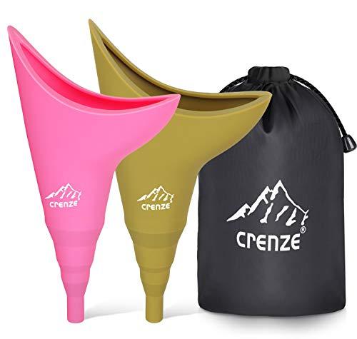 Embudo de orina femenina – Dispositivo de orina reutilizable para mujer que permite a las mujeres orinar de pie para actividades al aire libre, camping, senderismo, viajes (2 paquetes)