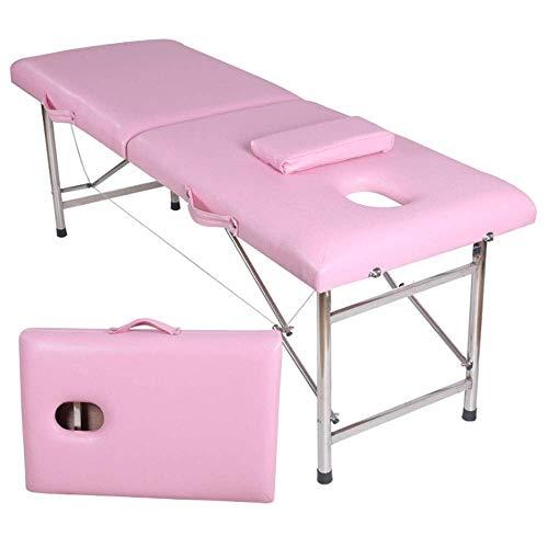LFNIU Tragbarer Massagetisch 2-teiliges tragbares Leichtgewichttherapie-Salon-Tattoo Reiki Heilung Schwedisches Thai-Massagebett