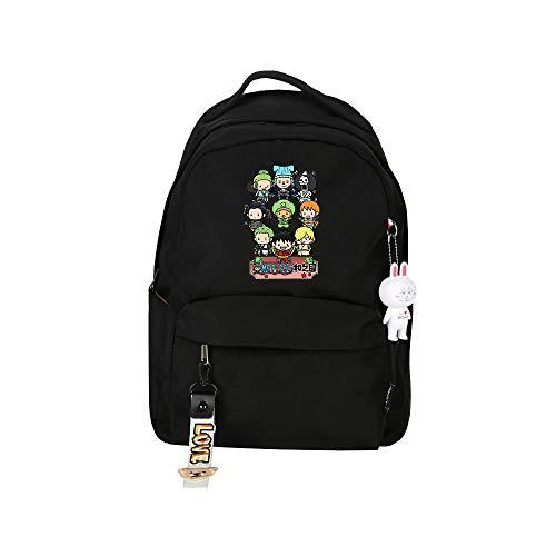 SHU-B One PieceMochila para Chicas Moda Impreso Universidad Bolsas Estudiante Escuela Mochila Laptop Viajes Bolsa Daypack