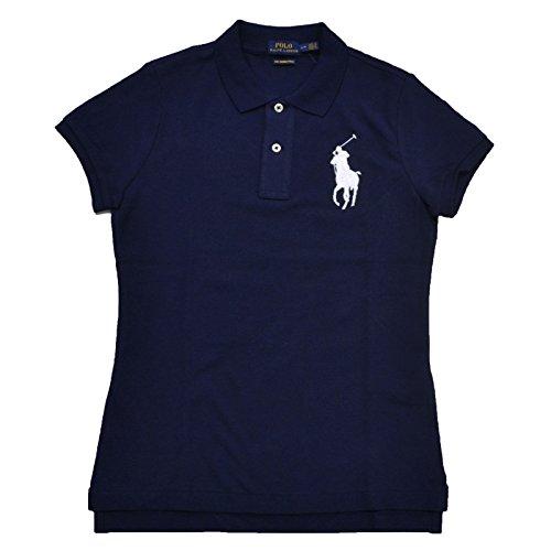 Polo Ralph Lauren Damen Wo Big Pony Polo Kleine Marine weiße Pony