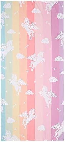 Colourful Rainbow Unicorn Toddler Beach Towel for Kid Girls Thin Lightweight Sand Free Microfiber product image