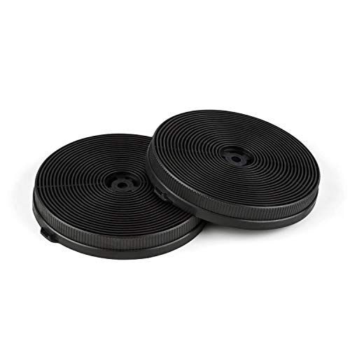 Klarstein Aktivkohlefilter für Dunstabzugshauben Ersatzteil 2 Filter Umluftbetrieb Ø18,5 cm