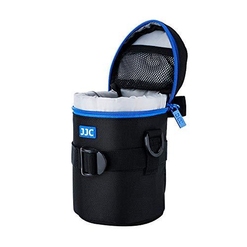 """JJC Deluxe Objektiv Tasche mit 1 x Umhängeband, Wasserabweisend, Schwarz, passt Objektiv Durchmesser und Höhe unter 80 x 152mm (3.1 x 6.0"""")"""