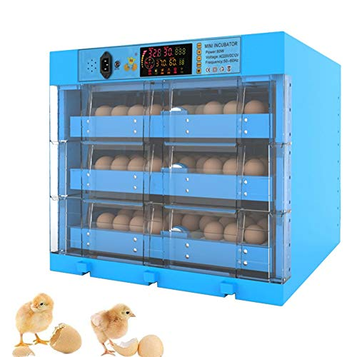 ZFF Eggs Incubator 192 Automatic Turning Large Poultry Hatcher Temperature Control for Hatching Chicken Duck Dove Quail Farm