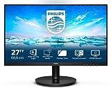 Philips 271V8L - Monitor FHD da 27', AdaptiveSync (1920 x 1080, 75 Hz, VGA, HDMI), colore: Nero
