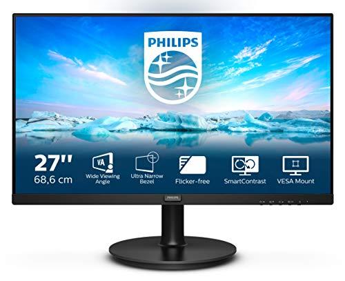 Philips 271V8LA - 27 Zoll FHD Monitor, AdaptiveSync (1920x1080, 75 Hz, VGA, HDMI) schwarz
