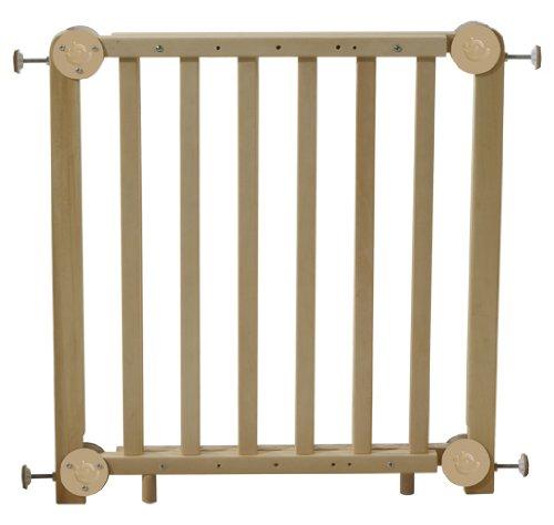 roba Türschutzgitter, Schutzgitter Holz natur, Durchgangssicherung barrierefrei, variable Breite 72-115,5 cm, Tür- und Treppengitter für Kinder & Haustiere