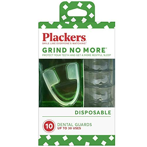 Plackers Grind No More Dental Night Guard for Teeth Grinding, Blue 10 Count