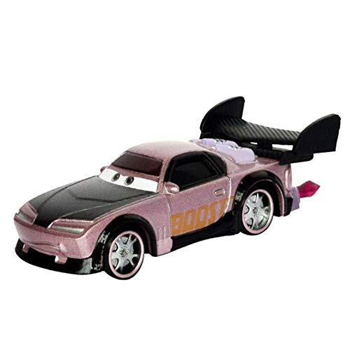 Desconocido Disney Cars Disney Pixar Cars 2 and Cars 3 Lightning Mcqueen Family Racing Boost with Flames Diecast Metal Alloy Toy Car 1:55 30