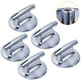 [Upgraded] Ultra Durable 74010839 Cooktop Burner Knob Chrome Finish Replacement Part by Blue Stars – Exact Fit for Jenn-Air Cooktops - Replaces 7737P372-60 WP74010839 PS11744413 - Pack of 5