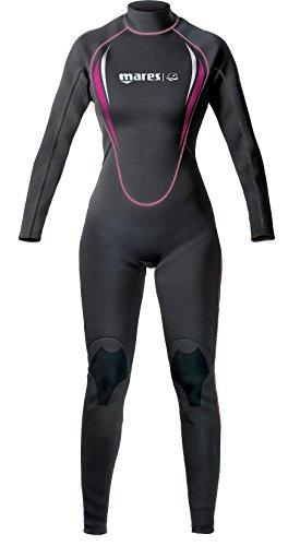 Mares Steamer Manta - Traje de buceo para mujer, color negro, color negro (black/pink), talla 36 ES (Talla Fabricante: S1)