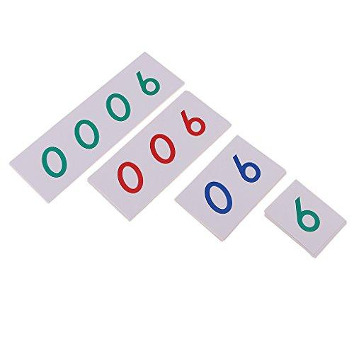 Montessori Matemáticas Tarjetas Número 1-9000 para Niños Juguete Aprendizaje Temprano