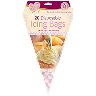 20 x Queen Of Cakes Disposable Piping Icing Bags For All Icing and Cake Decorating Use With Or Without Decorating Nozzles:Shizuku7148