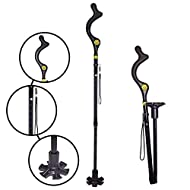 The Original Campbell Posture Cane Foldable Walking Cane for Men and Women - FSA/HSA Eligible - Editorial Recommended - As Seen on TV