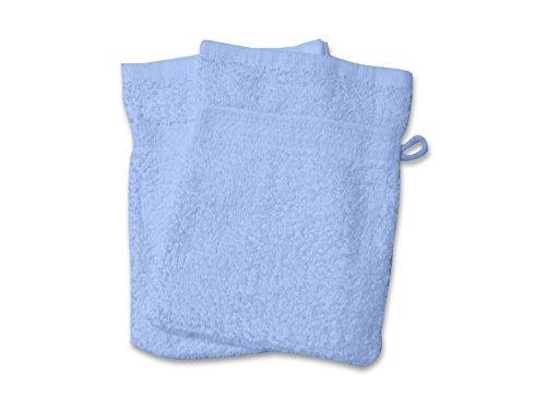 Soleil d'ocre 421105 Douceur Lot de 2 Gants de Toilette Coton Bleu 21 x 16 cm