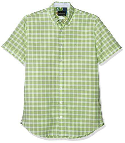 Daniel Hechter Herren Shirt Modern Fit Freizeithemd, Grün (Green 560), 44 (Herstellergröße: XL)