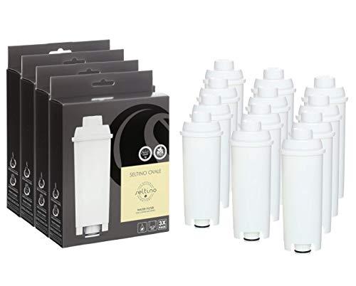 12 Seltino OVALE compatibele Delonghi SER3017 koffiezetapparaat waterfilter. Filterpatroon voor Delonghi SER3017 DLS C002 551329811. Set van 4 x 3 stuks. !