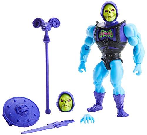Masters of the Universe-Origins, Personaggio Skeletor Articolato con Accessori,Giocattolo per Bambini 6+Anni,GVL77