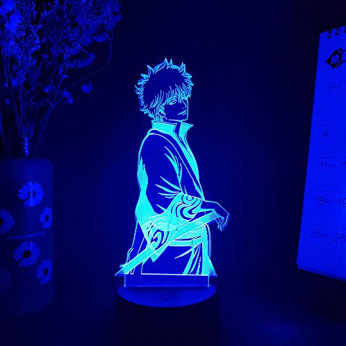 Weihnachtsbaum GINTAMA Abbildung Sakata Gintoki 3D-Diashow Comics Art-Deco-Beleuchtung Dekoration Schlafzimmer Nachtarbeitsbereich Computertisch Installation DUYAO00