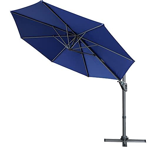 Blissun 11ft Offset Umbrella, Hanging Patio Umbrella...