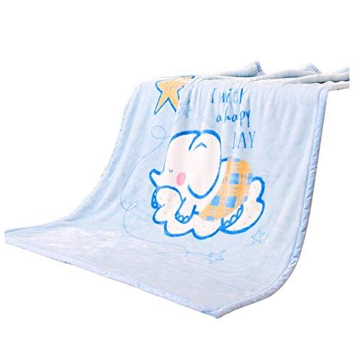 Ljings Superweiche Kindersteppdecke & Flauschige Große Gemusterte Jungen- / Mädchendecke, Außendecke/Autositz, Babybettwäsche 140X100cm,Weiß