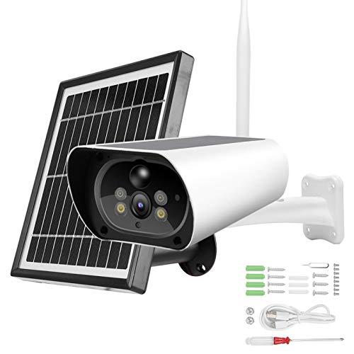 Cámara de luz doble, 1080P Sensor de cuerpo de fácil uso Cámara de energía solar 1080P, para estacionamiento Conectar computadora Jardín de seguridad interior de Ourdoor