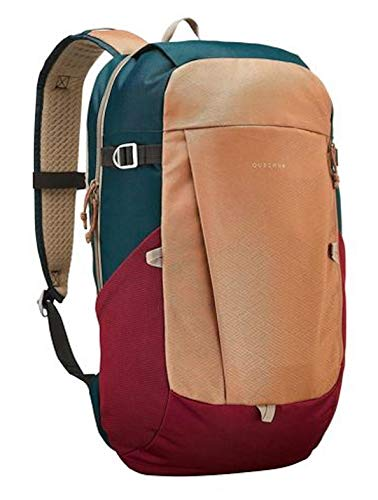 NEW CONFORT BACKPACK 20L Hazelnut, 2 zipped pockets, 2 compartments. 2 bottle holder and 2 foam pads. Quechua