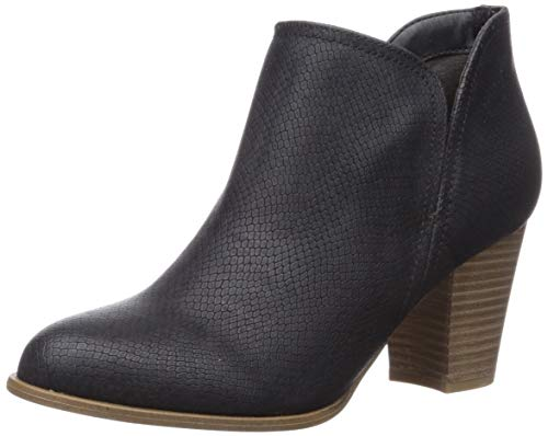 Fergalicious Women's Charley Ankle Boot, Black Snake, 11 M US