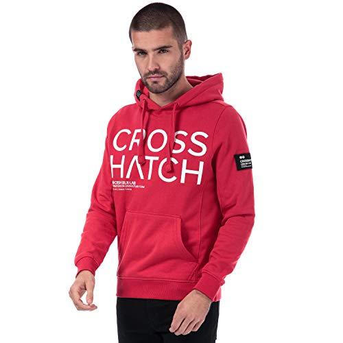 Crosshatch Black Label Herren Sweatshirt Kelsae Logo Rot Gr. Small, rot
