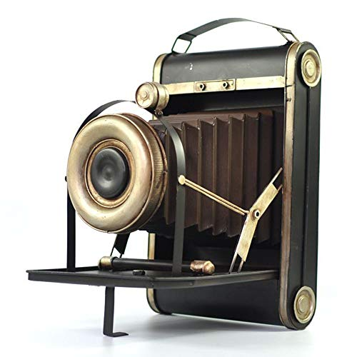 Hancoc Vintage-Schmuck Vintage-Kamera-Modell Eisen-Handwerk Schmuck Dekorationen Wohnzimmer Schlafzimmer nostalgisch weich Ladependel 40,5 * 25 * 30cm